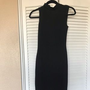 Topshop Midi dress with mock neck